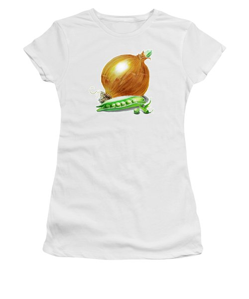 Onion And Peas Women's T-Shirt (Athletic Fit)