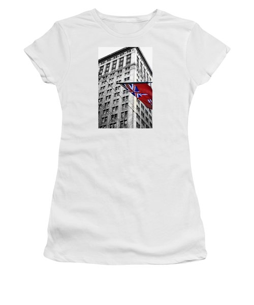 Ontario Flag Women's T-Shirt (Athletic Fit)