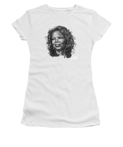 Women's T-Shirt (Junior Cut) featuring the drawing Oprah by Marianne NANA Betts