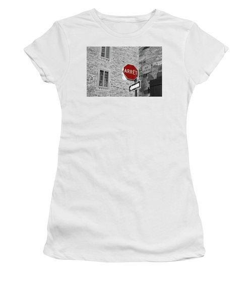 Optical Illusion, Quebec City Women's T-Shirt (Junior Cut) by Brooke T Ryan