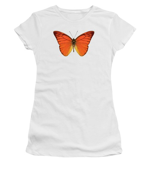 Orange Butterfly Species Appias Nero Neronis  Women's T-Shirt