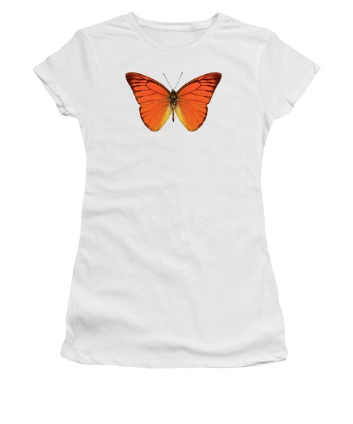 Orange Butterfly Species Appias Nero Neronis  Women's T-Shirt (Athletic Fit)