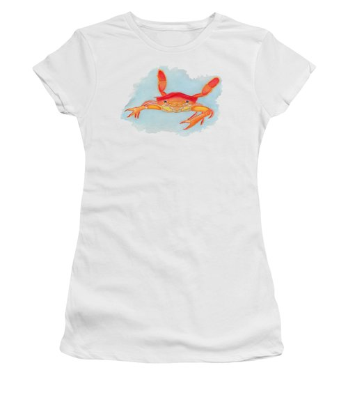 Orange Swimmer Crab Women's T-Shirt (Athletic Fit)
