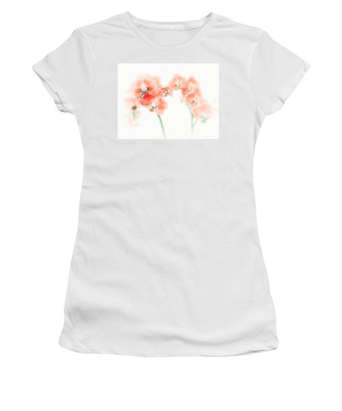 Orchid Collection 'soft Red' Women's T-Shirt (Athletic Fit)