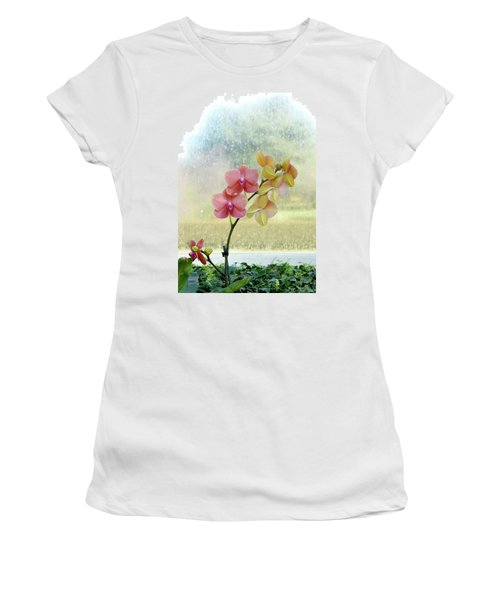 Orchid In Portrait Women's T-Shirt (Athletic Fit)