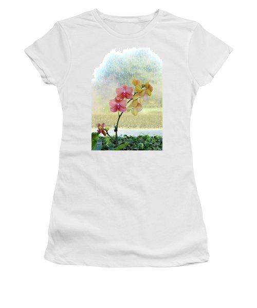 Orchid In Portrait Women's T-Shirt