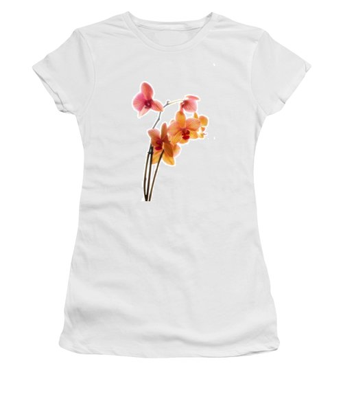 Orchids Women's T-Shirt (Athletic Fit)