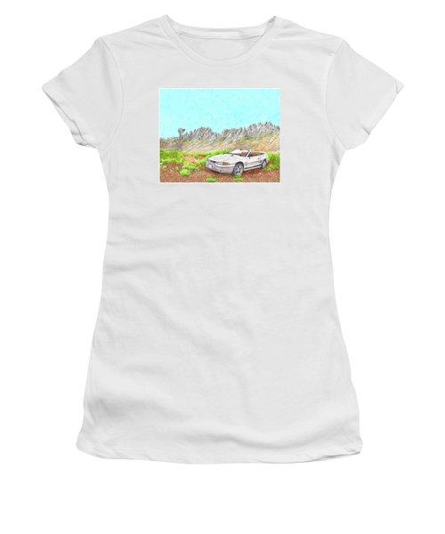 Organ Mountain Mustang Women's T-Shirt (Junior Cut) by Jack Pumphrey