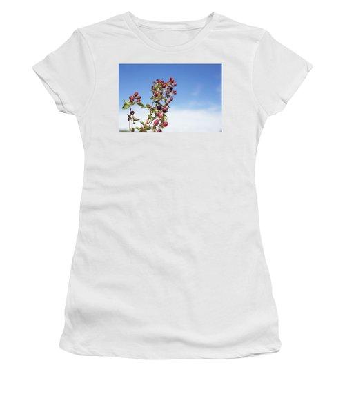 Organic Handpicked Home Orchard Raspberries,blackberries From Bu Women's T-Shirt (Junior Cut) by Jingjits Photography
