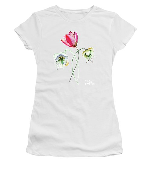 Original Summer Flowers Women's T-Shirt (Athletic Fit)
