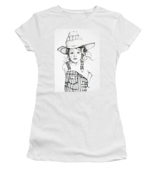 Women's T-Shirt (Junior Cut) featuring the drawing Osh Kosh by Mayhem Mediums