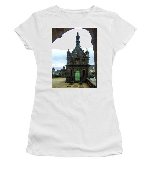 Ossuary Of St Thegonnec Women's T-Shirt (Junior Cut) by Helen Northcott