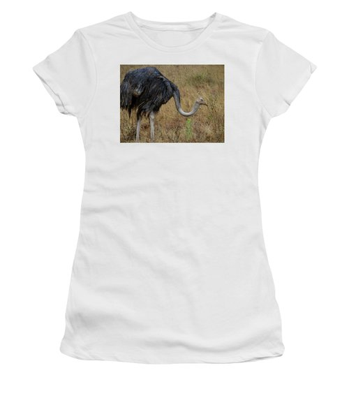 Ostrich In The Grass 2 Women's T-Shirt (Athletic Fit)