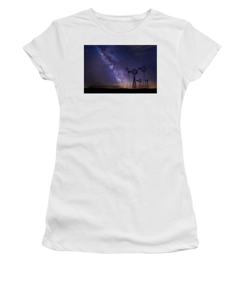 Our Milky Way  Women's T-Shirt (Athletic Fit)