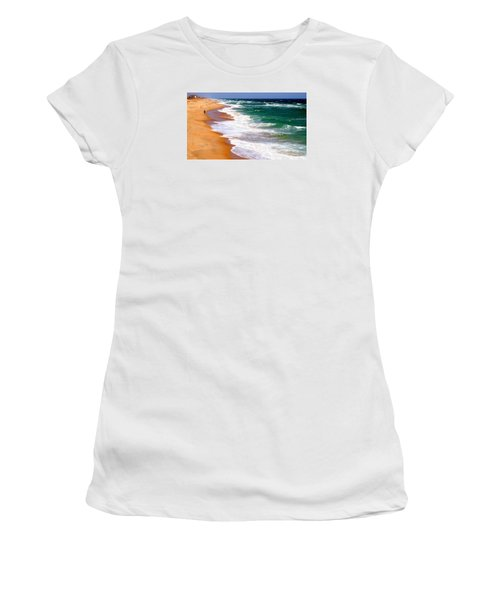 Outer Banks Beach North Carolina Women's T-Shirt (Athletic Fit)