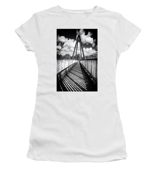 Women's T-Shirt featuring the photograph Over And Under by Nick Bywater