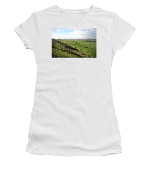 Over The Rim On Terceira Island, The Azores Women's T-Shirt (Junior Cut) by Kelly Hazel