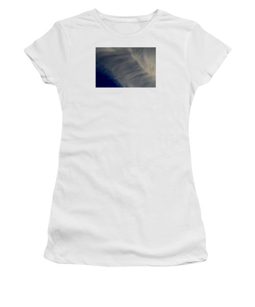 Women's T-Shirt (Junior Cut) featuring the photograph Overhead Cirrus  by Lyle Crump