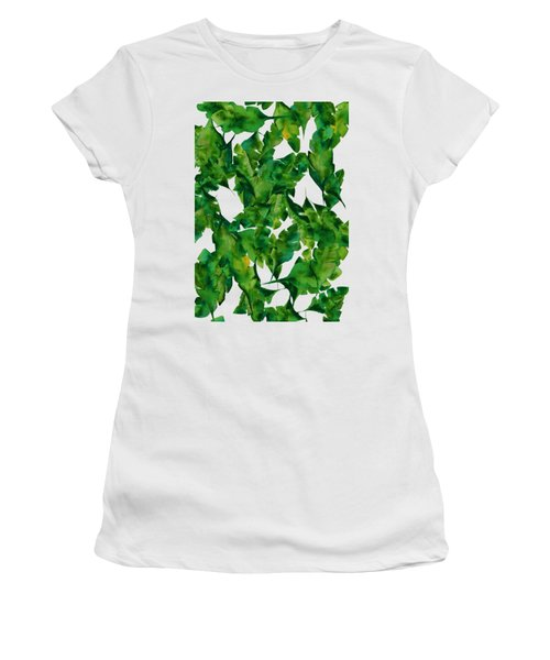 Overlapping Leaves Women's T-Shirt (Athletic Fit)