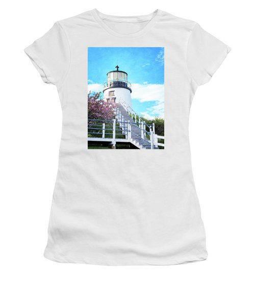 Owl's Head Light In Early June Women's T-Shirt