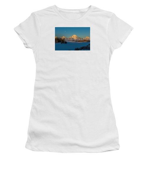 Oxbow Bend In Late Winter Women's T-Shirt (Junior Cut) by Yeates Photography