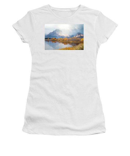Oxbow Bend Turnout, Grand Teton National Park Women's T-Shirt (Athletic Fit)