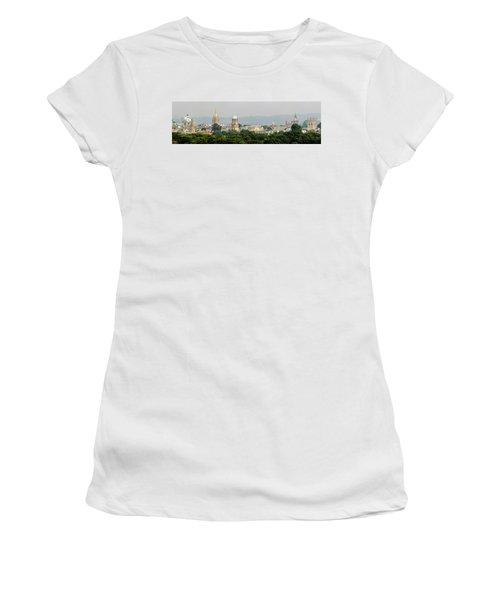 Oxford Spires Panoramic Women's T-Shirt (Junior Cut) by Ken Brannen