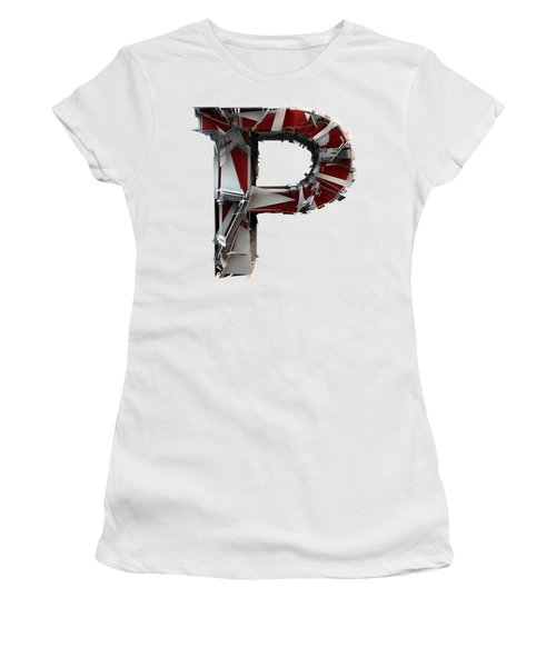 Women's T-Shirt featuring the photograph P Is For Pumpkin by Gary Keesler