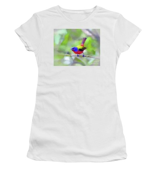 Painted Bunting Women's T-Shirt