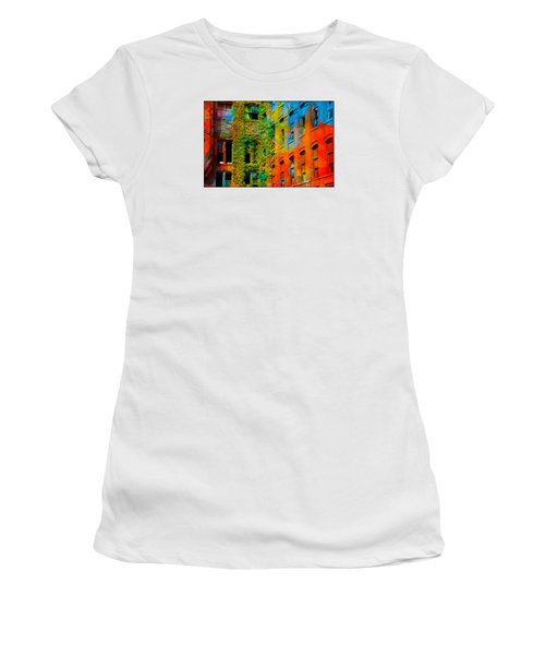 Painted Windows Women's T-Shirt (Athletic Fit)