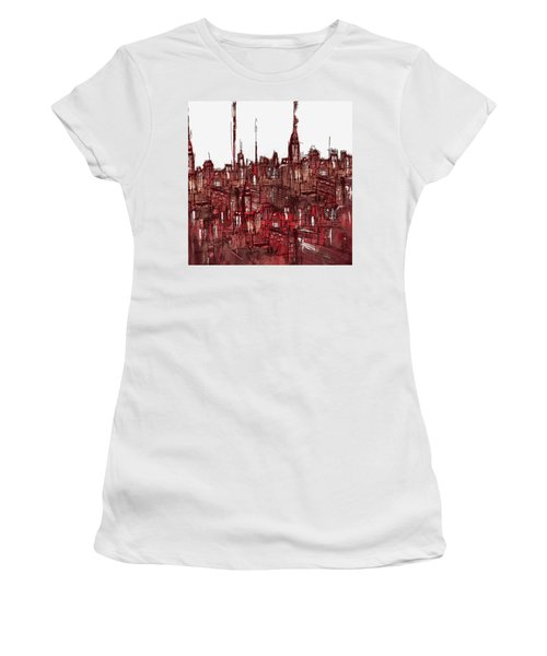 Painting 7756 New York Skyline Women's T-Shirt