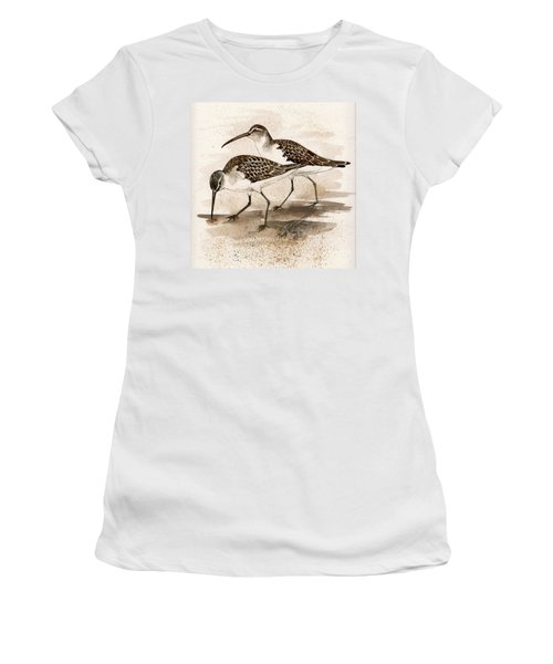 Pair Of Sandpipers Women's T-Shirt (Athletic Fit)