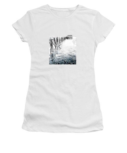 Women's T-Shirt (Junior Cut) featuring the photograph Palafitico by Edgar Laureano