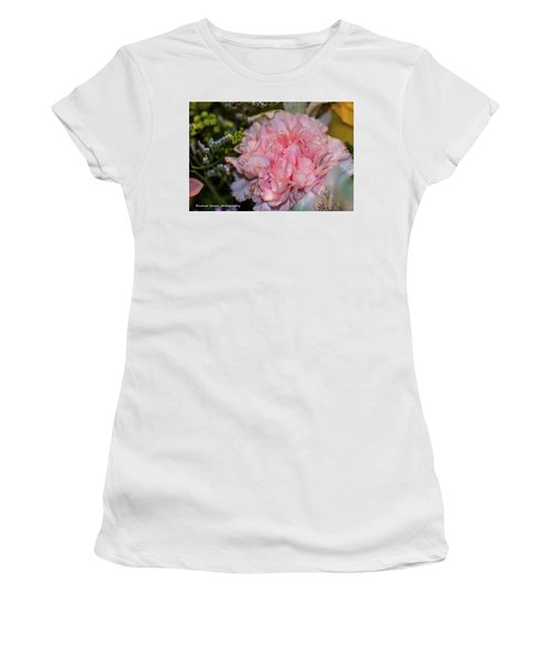 Pale Pink Carnation Women's T-Shirt (Junior Cut) by Nance Larson