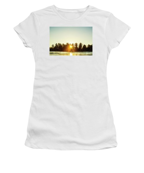 Palms And Rays Women's T-Shirt (Athletic Fit)