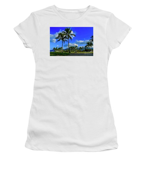 Palms In The Morning Women's T-Shirt (Athletic Fit)