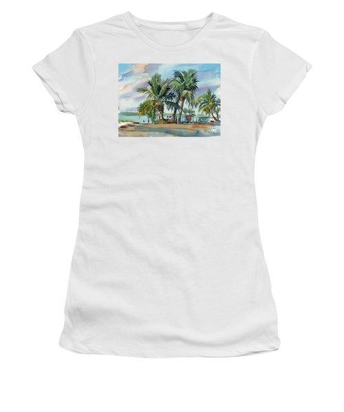 Palms On Sanibel Women's T-Shirt (Junior Cut) by Donald Maier