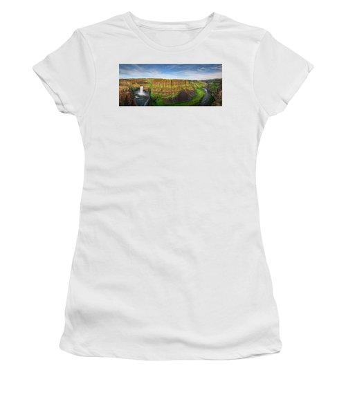 Palouse Falls Canyon Women's T-Shirt (Athletic Fit)