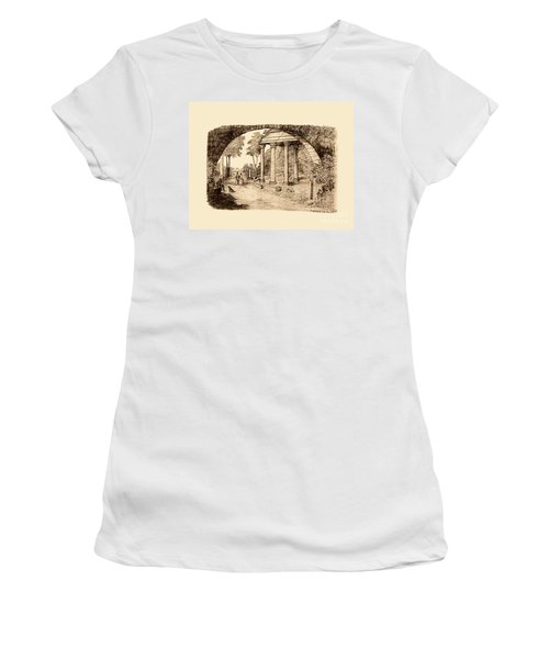 Pan Looking Upon Ruins Women's T-Shirt