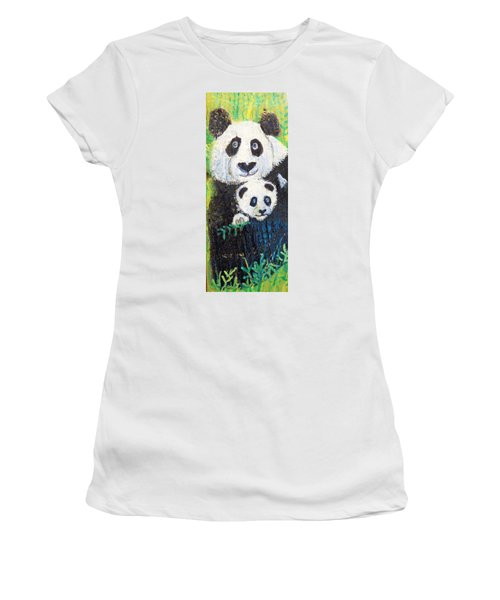 Panda Mother And Cub Women's T-Shirt (Athletic Fit)