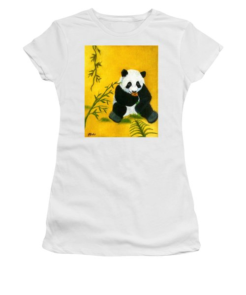 Panda Power Women's T-Shirt (Athletic Fit)