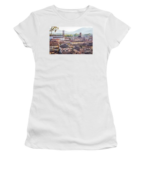 panorama of old town Lucca, Italy Women's T-Shirt
