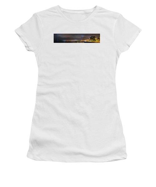 Panorama Of Reykjavik Iceland Women's T-Shirt (Junior Cut) by Joe Belanger
