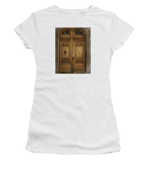 Women's T-Shirt (Junior Cut) featuring the photograph Paris Doorway by Katie Wing Vigil