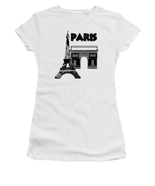 Paris Graphique Women's T-Shirt (Junior Cut) by Pharris Art