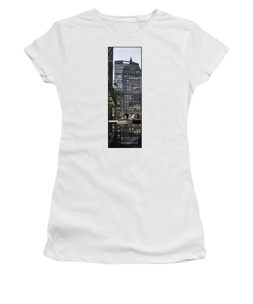 Women's T-Shirt featuring the photograph Park Avenue Met Life Nyc by Juergen Held