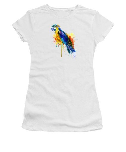 Parrot Watercolor  Women's T-Shirt (Athletic Fit)