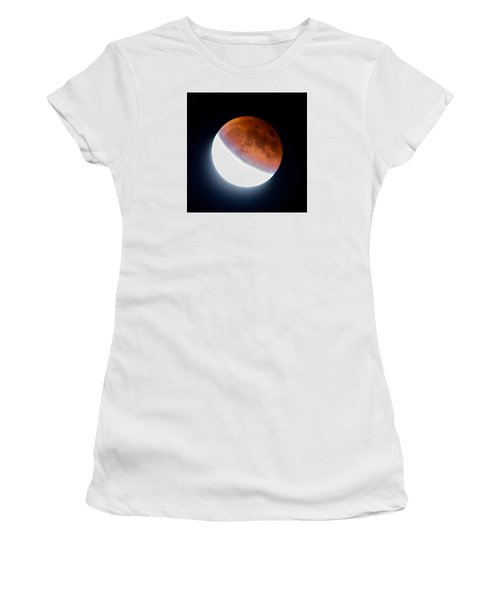 Partial Super Moon Lunar Eclipse Women's T-Shirt (Junior Cut) by Todd Kreuter