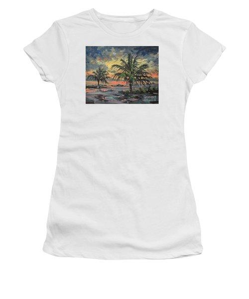 Passing Storm Women's T-Shirt (Junior Cut) by Donald Maier