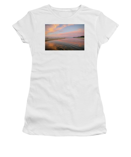 Pastel Skies And Beach Lagoon Reflections Women's T-Shirt (Athletic Fit)